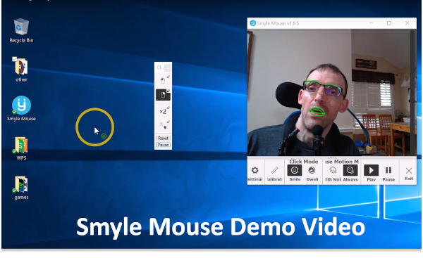 Video showing how Smyle Mouse works